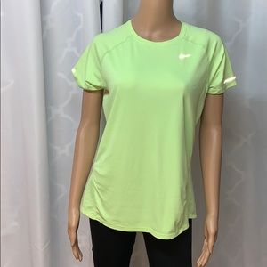 Nike dry fit large running top reflective stripes